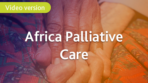 Palliative care e-learning course for healthcare professionals in Africa