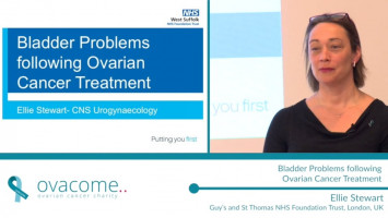 Bladder Problems following ovarian cancer treatment ( Ellie Stewart - Guy's and St Thomas NHS Foundation Trust, London, UK )