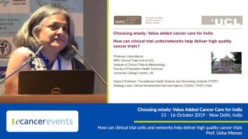 How can clinical trial units and networks help deliver high quality cancer trials ( Prof Usha Menon - University College London, London, UK )