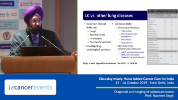 Diagnosis and staging of lung adenocarcinoma ( Dr Navneet Singh - Government Medical College and Hospital, Chandigarh, India )