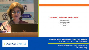 Treatment of advanced stage breast cancer ( Dr Shona Nag - Sahyadri Hospitals, Pune, India )