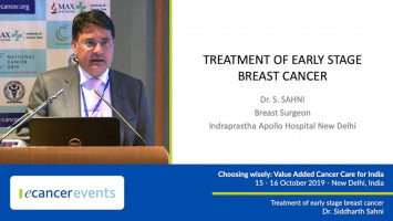 Treatment of early stage breast cancer ( Dr Siddharth Sahni - Apollo Indraprastha Hospital, New Delhi, India )