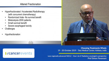 Loco-regionally advanced NSCLC: Radiation oncologist's perspective ( Prof Simon Pavamani - Christian Medical College, Vellore, India )