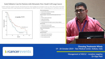 Management of mutation-negative NSCLC ( Dr Vijay Patil - Tata Medical Center, Kolkata, India )