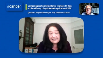 Comparing real world evidence to phase III data on apalutamide for nmCRPC ( Prof Heather Payne and Prof Stéphane Oudard )